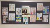 Students displayed their artistic talents and had an Art Show- Critique from Peers