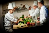 Chef's oversee the daily food preperation at restaurants and other places where food is served