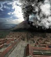 When did Mt. Vesuvius erupt on Pompeii?