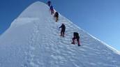 people climb
