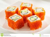 California Maki with Roe