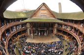 Fish-eye view of the Globe Theatre