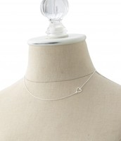 Interlock Heart Necklace - Silver