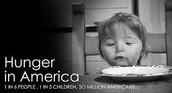 1 en 6 niños en el Estados Unidos sufren de hambre.