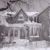 Pettypiece home, winter 1960