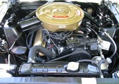 Honey Gold Green 1965 Mustang Hardtop Motor