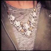 Zora Crystal Necklace $84 (was $168)