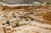 Excavation site in Israel