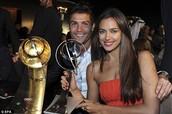 Cristiano Ronaldo with his girlfriend