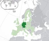 Deutschland auf E.U. Karte.