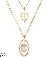 Fortuna Stone Pendant Necklace