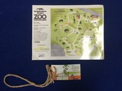 Zoo map and admission ticket