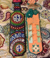Savanna Gary's paddles from her littles Gianna and Lauren!