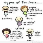 Types of teachers: