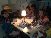 The girls worked on a puzzle after their SOL