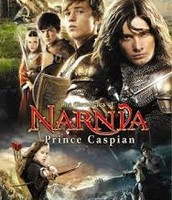 (from the top left) Lucy, Edmund, Peter, Prince Caspian, Susan