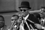 Malcolm X at a New york Rally