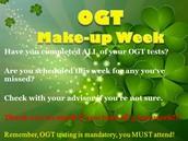 OGT Make up Week