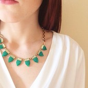 Eye Candy Necklace (Emerald)- $20