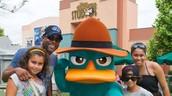 Darius with the family at Disney Studios