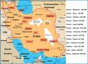 Map of Iran's Major Cities