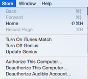 Deauthorize your Laptop in iTunes