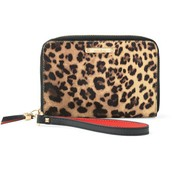 Chelsea Tech Wallet - Leopard - $30