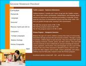 Keystone Montessori Curriculum