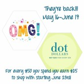 DOT DOLLARS are here!!!!!