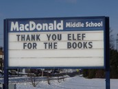 Our sign of thanks!