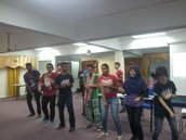 AISECERS UKM leading the square dance of the night XD