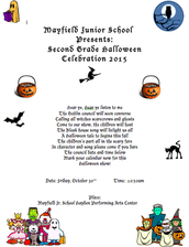 Second Grade Halloween Play