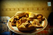 Polish croissant cookies