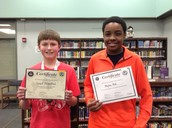 Geographic Bee Middle School Winner and runner-up