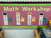 Ms. Pence's Guided Math Bulletin Board