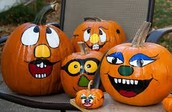 Children's Pumpkin Painting