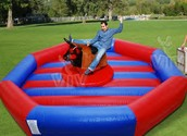 The Mechanical Bull At  Spring Fest 2016