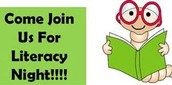 Literacy Night : Thursday, February 18th