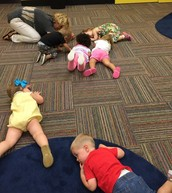 We do kid yoga to relax before naptime-it is clearly successful :-)