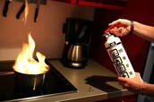 use a non water based fire extinguisher, aim at the base of the flame