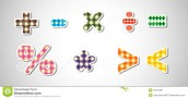 Different math symbols