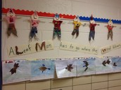 Leaf Man writing and scarecrows