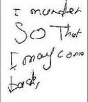 A Childish Letter From a Child Murderer
