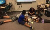 5th Graders Preparing Book Talk Commercials