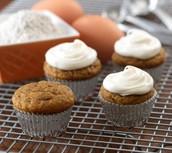 Recipe!  Mini Pumpkin Cupcakes