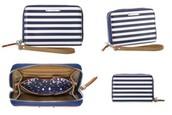 CHELSEA TECH WALLET- Navy Stripe