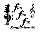 Fun! Fun! Fun!  September 25 Concert