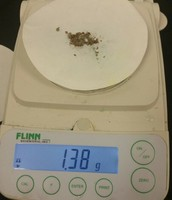 The weight of the copper and paper after filtration