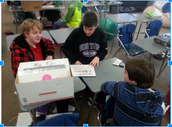 Students at work in math class