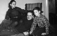 Abel Meeropol and his adopted sons, Robert and Michael.